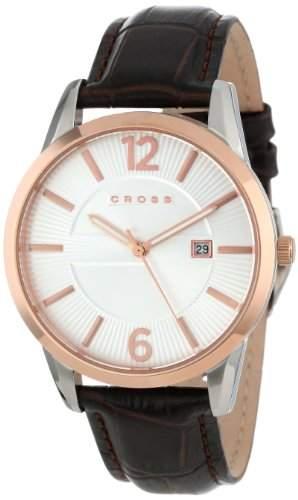 Cross Herren-Armbanduhr Gotham Analog Quarz Leder CR8002-04