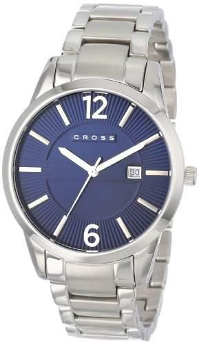 Cross Herren-Armbanduhr Gotham Analog Quarz Edelstahl CR8002-33