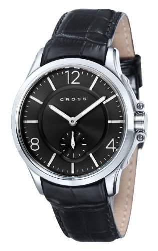 Cross Herren-Armbanduhr Helvetica Analog Quarz Leder CR8009-01