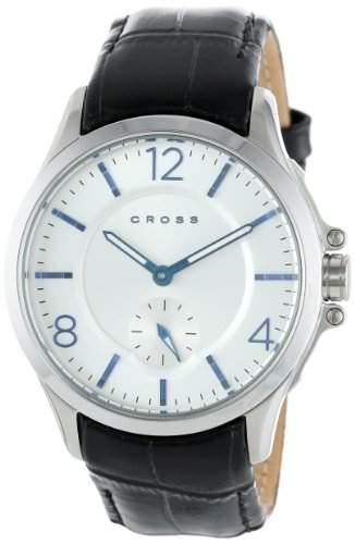 Cross Herren-Armbanduhr Helvetica Analog leder schwarz CR8009-02