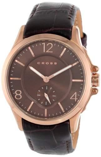 Cross Herren-Armbanduhr Helvetica Analog Quarz Leder CR8009-04