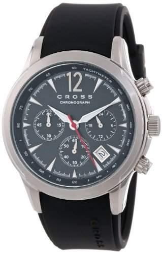 Cross Herren-Armbanduhr Agency Chronograph Silikon Schwarz CR8011-01