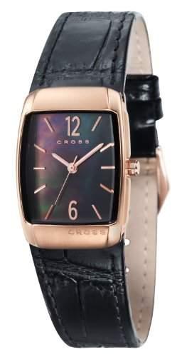Cross Damen-Armbanduhr Arial Analog leder schwarz CR9005-04
