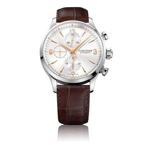 Louis Erard Herren 44mm Chronograph Automatikwerk Saphirglas Uhr 78225AA11BDC21