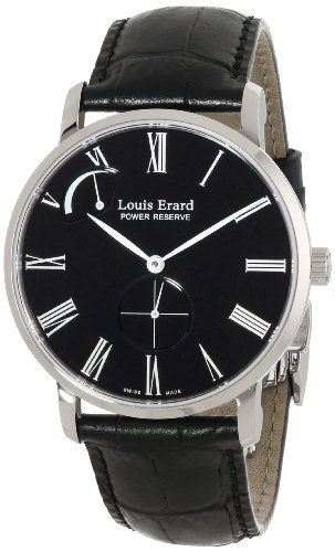 Louis Erard Herren 53230 AA12 BDC29 Excellence Analog Display Mechanische Hand Wind Black Watch
