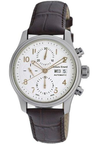 Louis Erard 40mm Armband Kalbsleder Braun Gehaeuse Edelstahl Automatik 78269AA01 BDC21