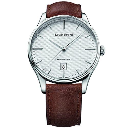 Louis Erard Herren Armbanduhr Armband Leder Braun Gehaeuse Edelstahl Saphirglas Automatik 69287AA21 BVA01