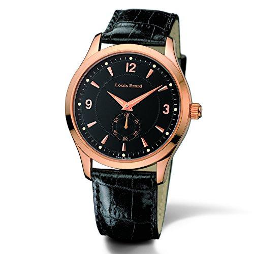 Louis Erard 1931 Herren 40mm Schwarz Leder Armband Uhr 47200PR02 BRC02