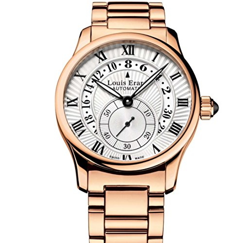 Louis Erard Emotion Unisex Armbanduhr 36mm Armband Gold beschichtetes Edelstahl Automatik 92600PR21 BMA46