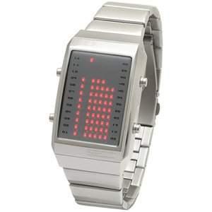 LED Uhr - Herren - L84-021RD-MSM