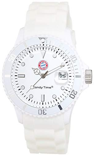 MADISON NEW YORK Unisex-Armbanduhr Candy Time for FC Bayern Muenchen Analog Quarz Silikon U41671FCB
