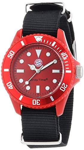 MADISON NEW YORK Damen-Armbanduhr XS Candy Time FC Bayern Muenchen Sailor Mini Analog Quarz Nylon L4736-38