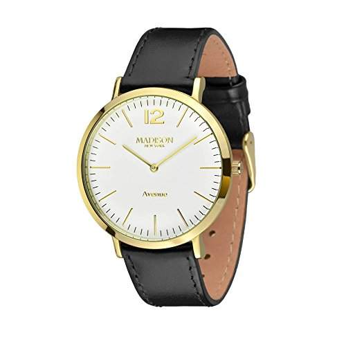 MADISON NEW YORK Damen Uhr Avenue Gold  Schwarz Small Onesize