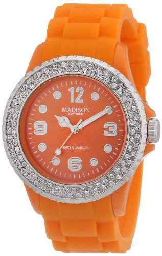 Madison New York Unisex-Armbanduhr Juicy Glamour Analog Silikon U4101E5