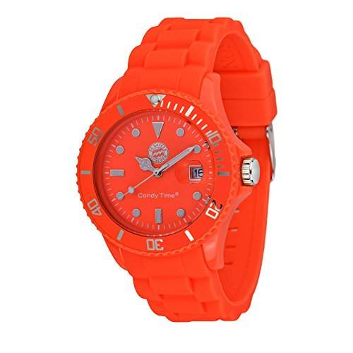 MADISON NEW YORK Unisex Uhr Candy Time® for FC Bayern Muenchen Neon Orange Onesize