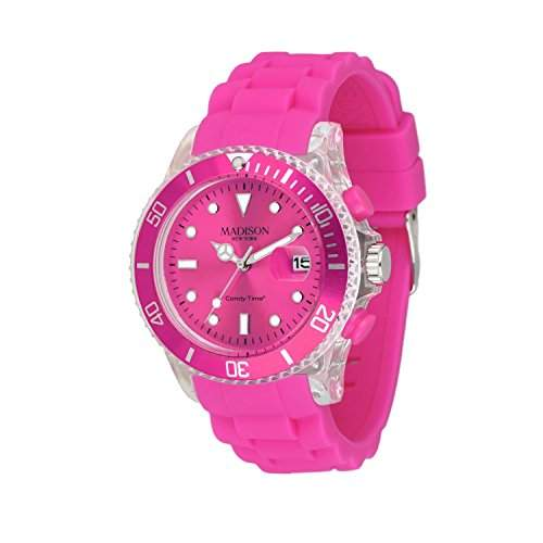 MADISON NEW YORK Unisex Uhr Candy Time® Flash Pink Onesize