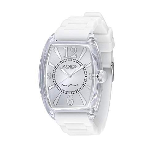 MADISON NEW YORK Unisex Uhr Candy Time® Retro Weiss Onesize