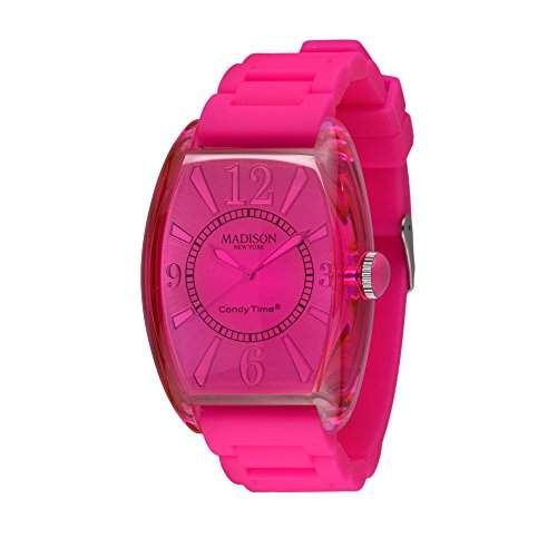 MADISON NEW YORK Unisex Uhr Candy Time® Retro Pink Onesize