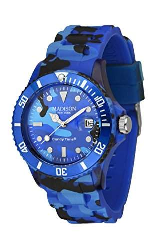 MADISON NEW YORK Unisex Uhr Candy Time® Camouflage Blau Onesize