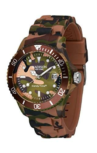 MADISON NEW YORK Unisex Uhr Candy Time® Camouflage Braun Onesize