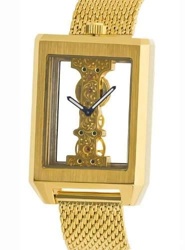 MJohansson Vergoldet Herren Skelett Armband Uhr CalesGG