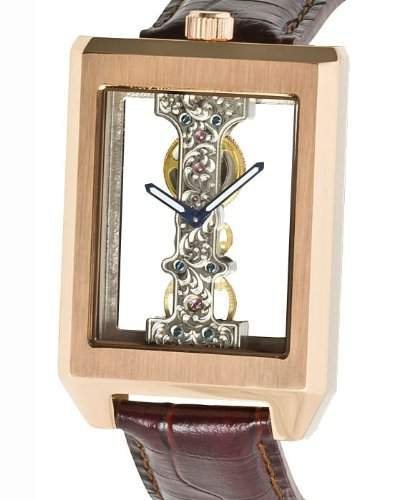 MJohansson Rosé Vergoldet Herren Skelett Armband Uhr CalesLRg