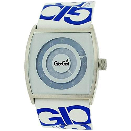 Gio-Goi Herrenuhr Live Who You Are blau-weisses Zifferbl Lederband