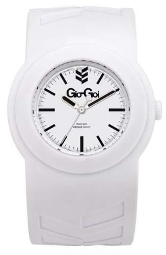 Gio-Goi Unisex-Armbanduhr Poppin Analog weiss GG1007W