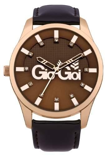 Gio Goi Damen-Armbanduhr Analog Leder Braun GG2011BR