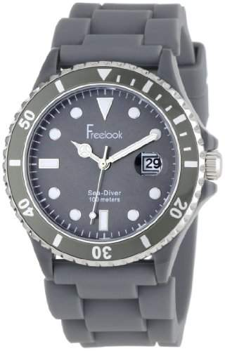 Freelook Herren HA1433-4 Sea Diver Jelly Grey with Grey Dial Armbanduhr