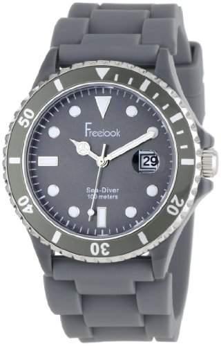Freelook Herren HA1433-4 Sea Diver Jelly Grey with Grey Dial Armbanduhr