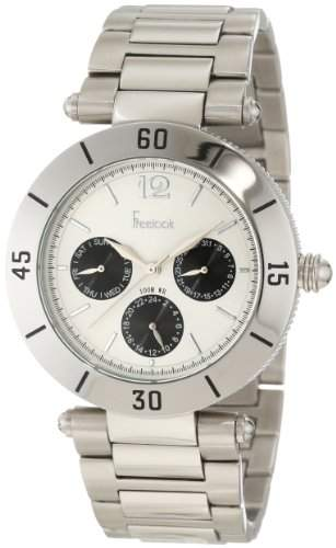 Freelook Damen HA1535M-1 Stainless Steel Silver Band Silver Dial Black Subdials Stainless Stee Armbanduhr