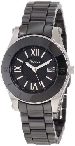 Freelook Damen HA5114-1 All Black Ceramic Black Dial Armbanduhr