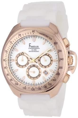 Freelook Damen HA6303RG-9 Aquamarina III WhiteRose Silicone Armbanduhr