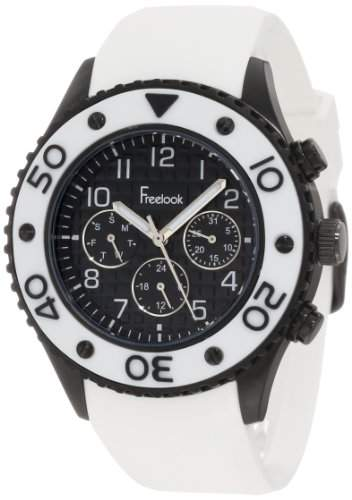 Freelook HA9055 Edelstahl Weiss Damen Armbanduhr