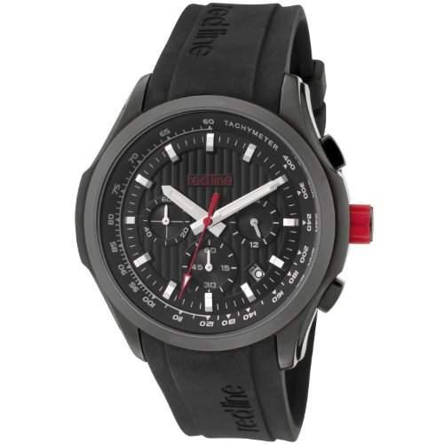 Red Line-rl-50028vd-bb-01-Zeigt Herren-Quartz Chronograph Armband Gummi schwarz