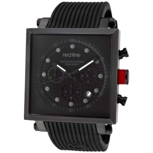 Red Line-rl-50036-blk-Zeigt Herren-Quartz Chronograph Armband Gummi schwarz