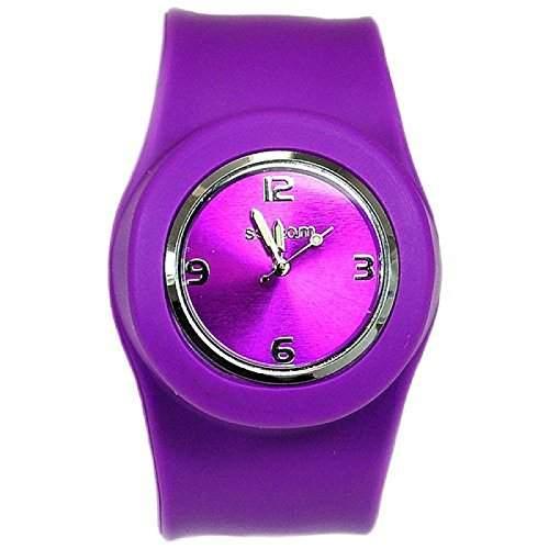 Violett Aufklatsch-Uhr mit Armband aus Silikon