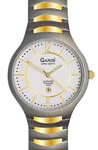 Gardé by Ruhla Herrenuhr Elegance 90896 Titan bicolor Saphirglas