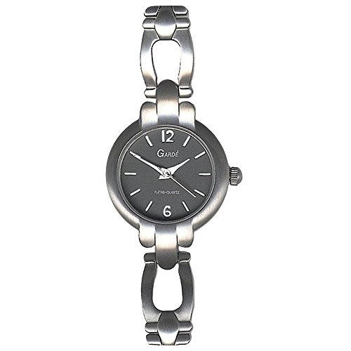 GARDE Elegant Analog Titan Armband silber grau Quarz Uhr Ziffernblatt anthrazit schwarz UGA77745