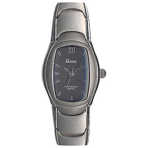 GARDE Elegant Analog Titan Armband silber grau Quarz Uhr Ziffernblatt anthrazit schwarz UGA12915