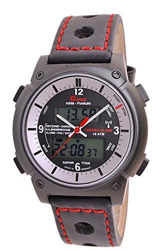 Garde by Ruhla Uhr Herren Titan Funkuhr Modell Business Alarm FU 6 16D