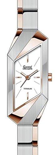 Garde Ruhla elegante Titanuhr fuer Damen bicolor rose 25445