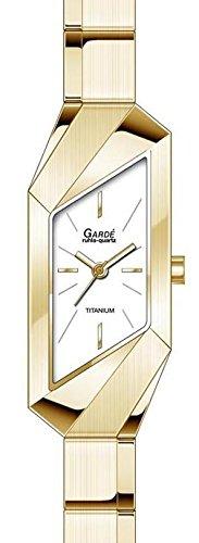 Garde Ruhla elegante Titanuhr fuer Damen vergoldet 25442