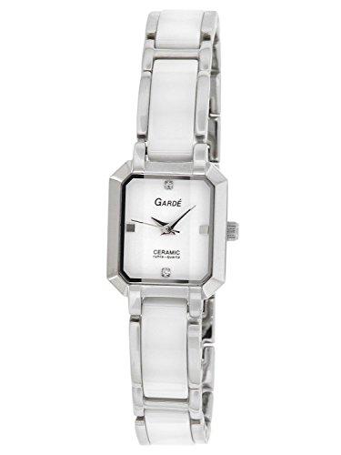 Garde Uhren aus Ruhla Keramik weiss 20465