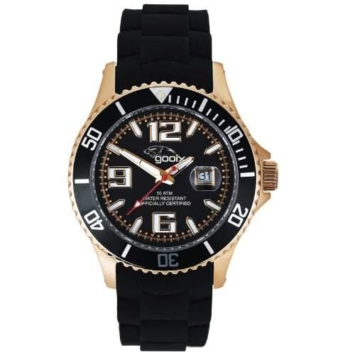 gooix GX06005099 Color Uhr Herrenuhr Kautschuk Edelstahl 100m Analog Datum schwarz rosé