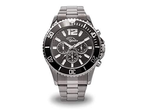 gooix Herren-Armbanduhr Chronograph Edelstahl anthrazit IP-beschichtet GX-06005-90A