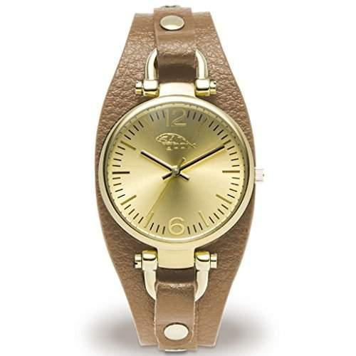 gooix GX08003029 Uhr Damenuhr Lederarmband Edelstahl 50m Analog braun gold