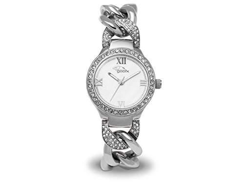 gooix Damen-Armbanduhr gold Edelstahl Zirkonia analog GX-08006-661