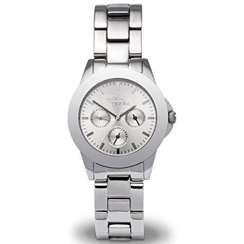 gooix GX08007594 Uhr Damenuhr Edelstahl 50m Analog Datum silber